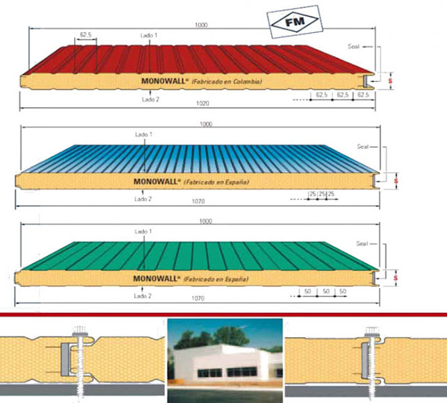 panel metálico fachada almacenes zaragoza