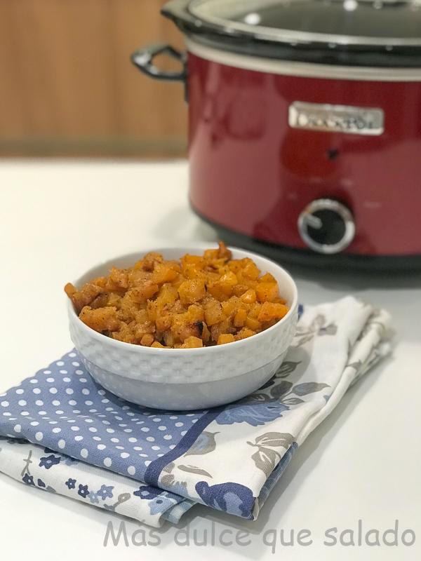 Calabaza al curry en Crock Pot. Vídeo receta