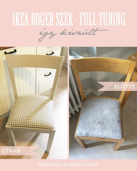 Manzard9: IKEA Roger szék - full tuning