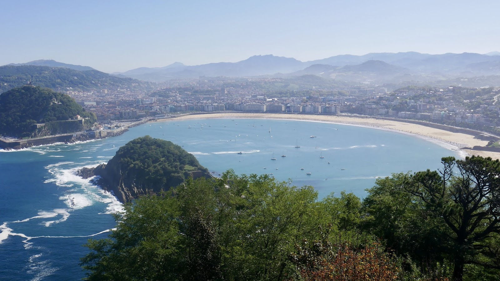 Vue San Sebastian Monte Igueldo Pays Basque Espagne