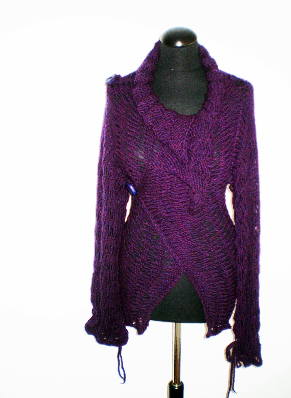handmade sweaters divna s sweaters amethyst color of my new handmade sweater 6744