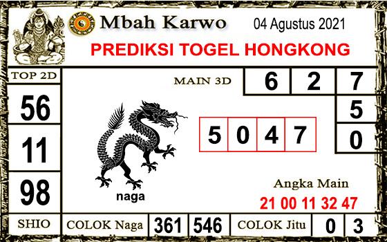 Prediksi Mbah Karwo Hk Rabu 04 Agustus 2021
