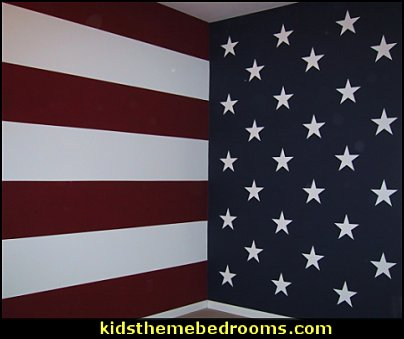 stars and stripes wall decorating americana bedroom wall decorating