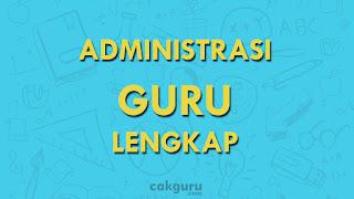 Administrasi guru sekolah sd/mi lengkap