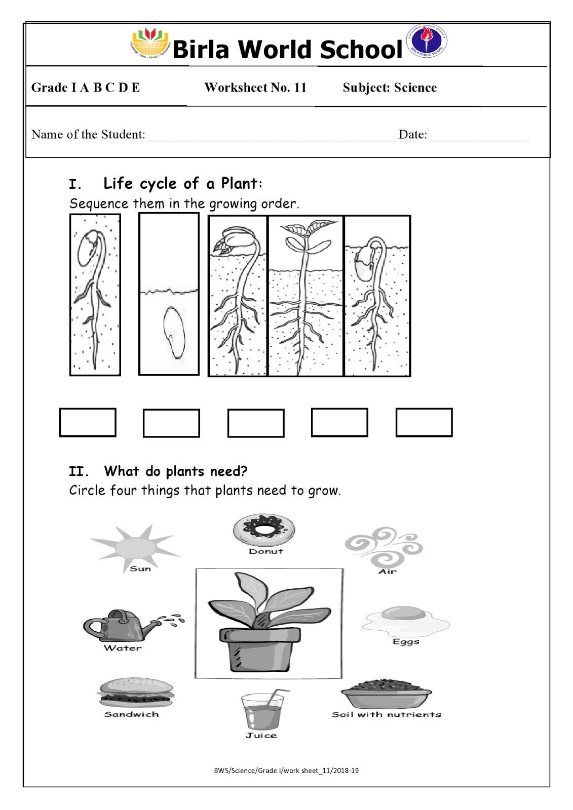 Birla World School Oman Homework For Grade 1 As On 21 02