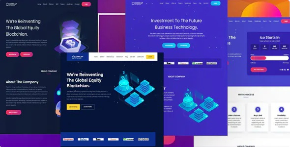 Best Cryptocurrency ICO Landing Page Template