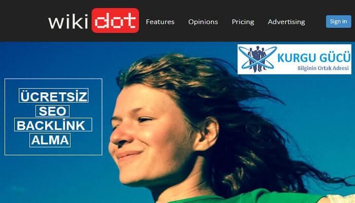 Wikidot.com'dan Ücretsiz SEO Backlink Alma Yöntemleri - Kurgu Gücü