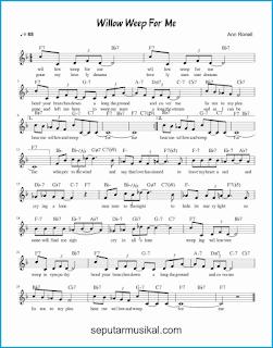 chord willow weep for me lagu jazz standar