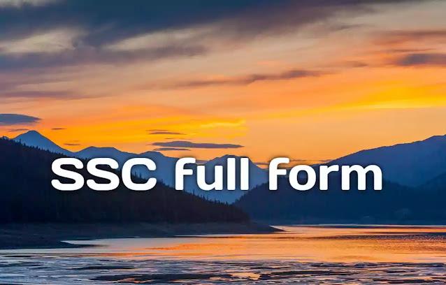 ssc full form