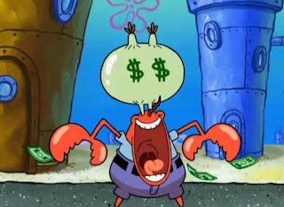 Polosan meme tuan krab 22 - mata duitan tuan krab, mata tuan krab berubah menjadi dollar $ / uang
