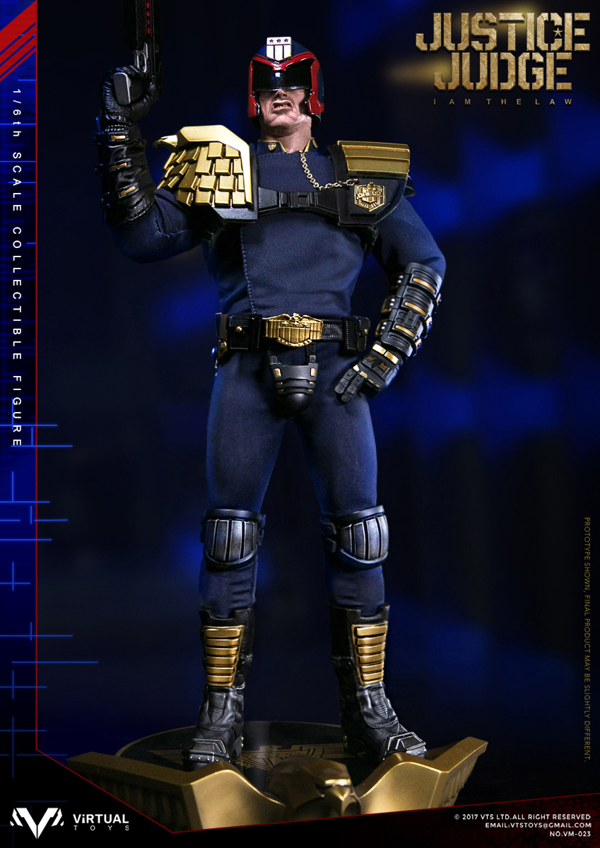 Virtual Toys VTS Stallone Judge Dredd Tall Boots loose 1//6th scale