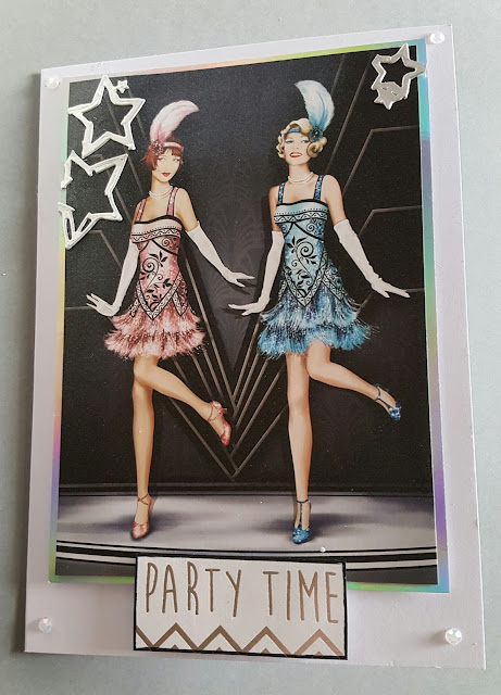 Party Time - Flapper girls 5x7in card