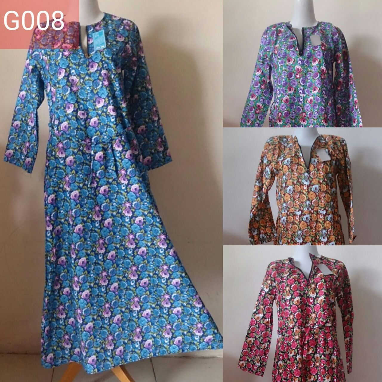 Gamis katun jepang polos motif model payung murah grosir Model baju gamis bahan katun jepang