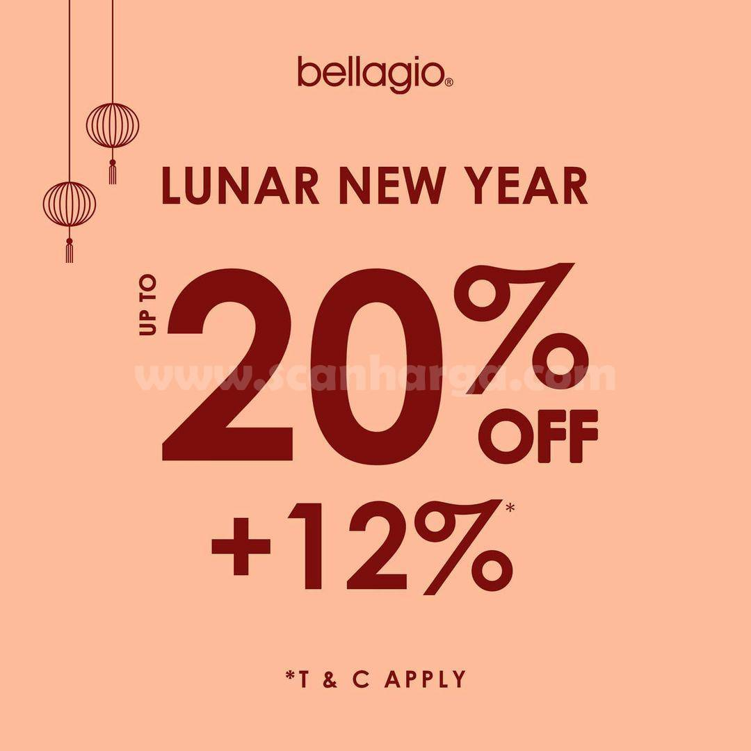 Promo Bellagio Lunar New Year Discount Up To 20% Off + 12% Off