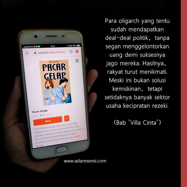 resensi novel online Pacar Gelap