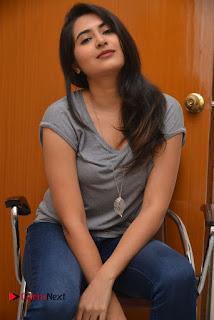 Actress Vyoma Nandi Pictures in Jeans at Marala Telupana Priya Movie Success Meet  0052