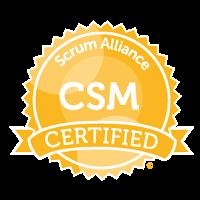 Scrum Alliance Certified ScrumMaster (SCM) badge