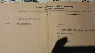 Koordinator Agen BPNT Kecamatan Suela Disomasi Salah Satu Supplier, Ada Apa?