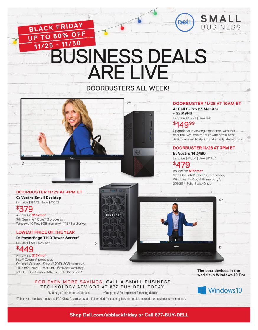 Dell Small Business Black Friday 2019 Page 6