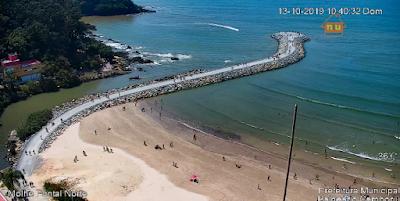 Câmera ao vivo do Pontal Norte Balneário Camboriu