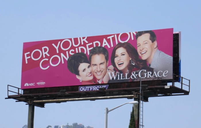 Will Grace season 10 Emmy FYC billboard
