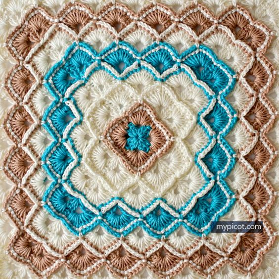 ➤ Crochet Box Stitch Baby Blanket (FREE PATTERNS)