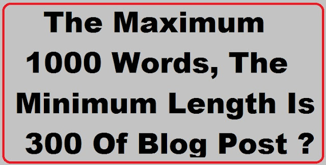 length, blog, post, counter, word, 1000 words