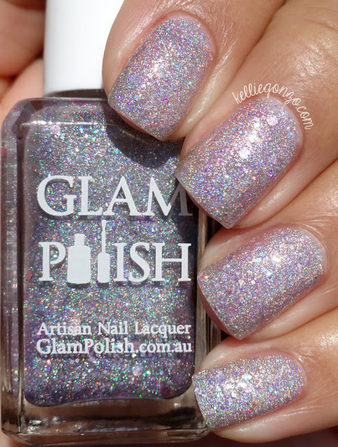 Glam Polish Pink Fluffy Unicorns Dancing on Rainbows