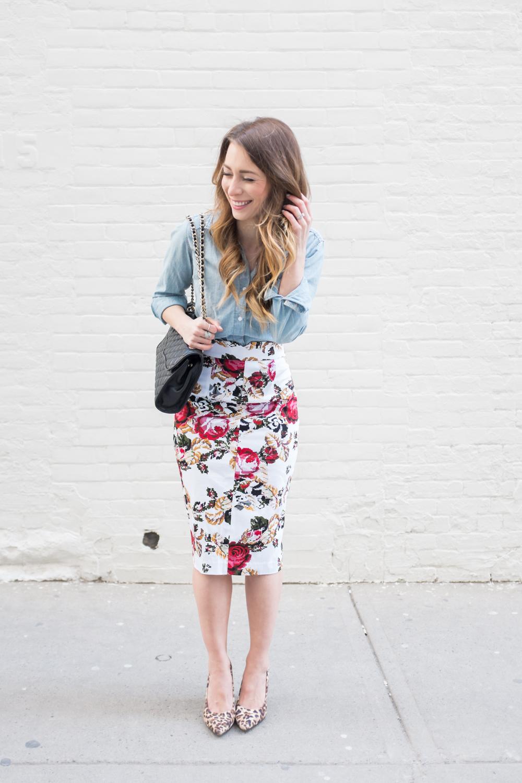 955e6ff14 OOTD - Rachel Sin Floral Pencil Skirt   La Petite Noob   A Toronto ...