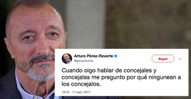 Arturo Pérez-Reverte bromea con dureza contra el lenguaje 'feminista' y le llueven los insultos