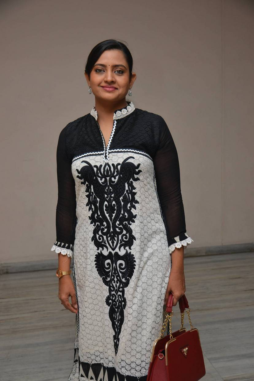 Tollywood Actress Indraja Stills In Black Dress
