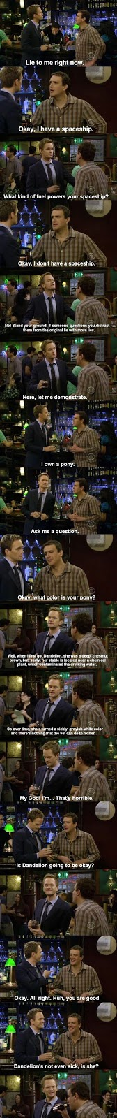 The best scene from How I Met Your Mother, Barney and Marshall.
