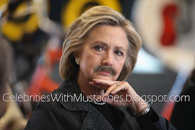 Hillary Clinton With a Mustache