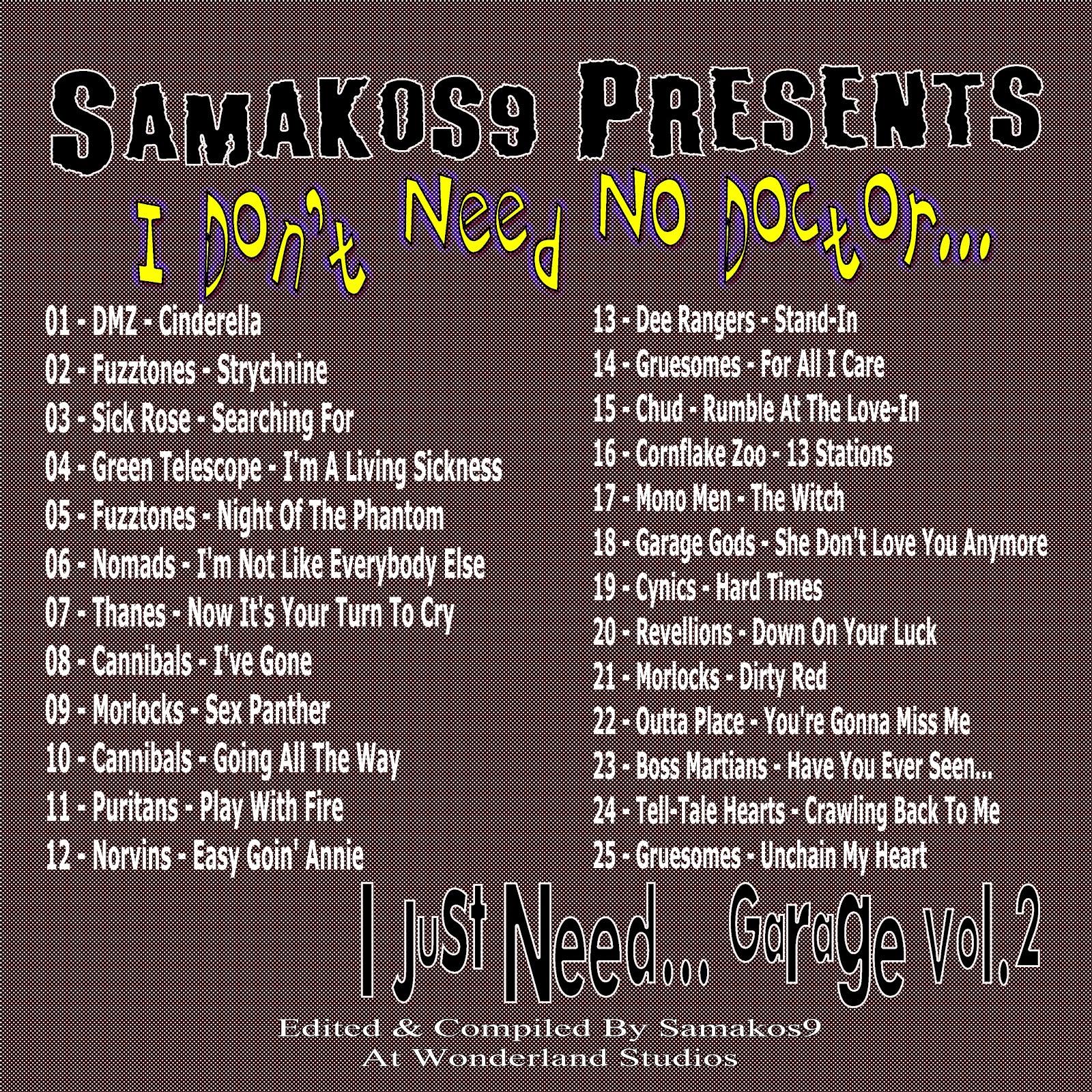 BOOZETUNES: Samakos9 Presents - I Don't Need No Doctor Vol.2