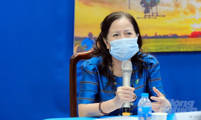 Bà Ninh Thị Ty, Phó Chủ tịch Hiệp hội Nông nghiệp số (VIDA). Ảnh: Bảo Thắng.