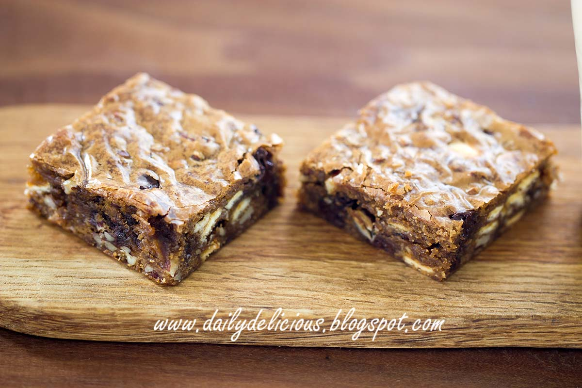 Double Chocolate Pecan Brownie Cake Recipe
