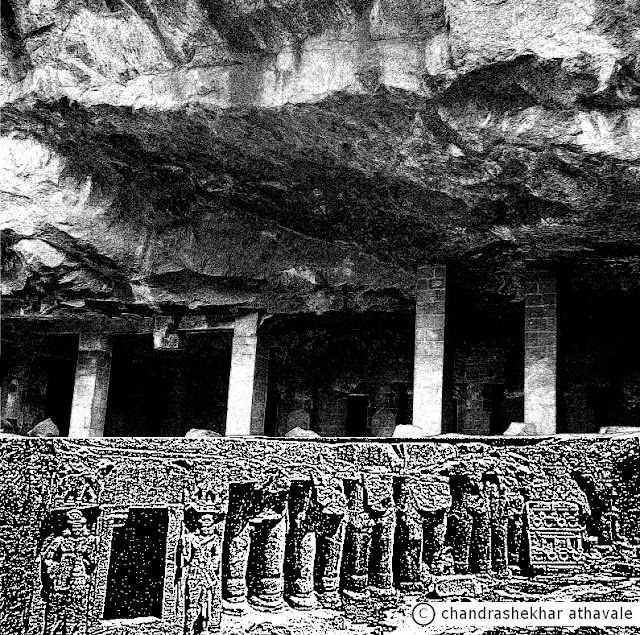 Taking leave of the Yakshas', I walk across to the next cave, numbered