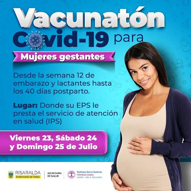 Primeras Damas de Risaralda invitan a gestantes y lactantes a vacunarse contra el covid-19