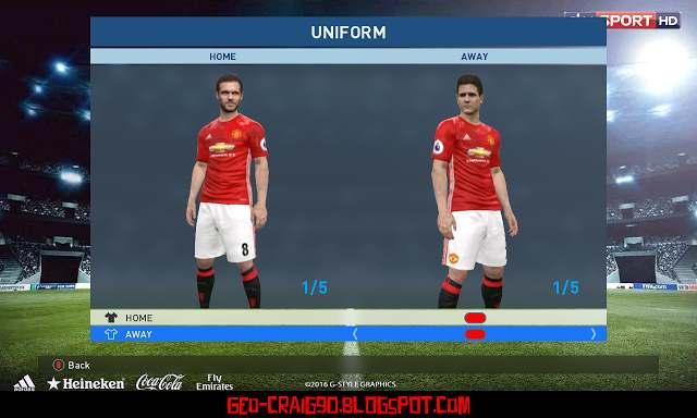 PES 2017   PES 2016 Manchester United 2016-17 GDB Kits cff86af3a