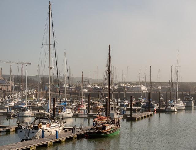Photo of Maryport Marina in the mist on Sunday