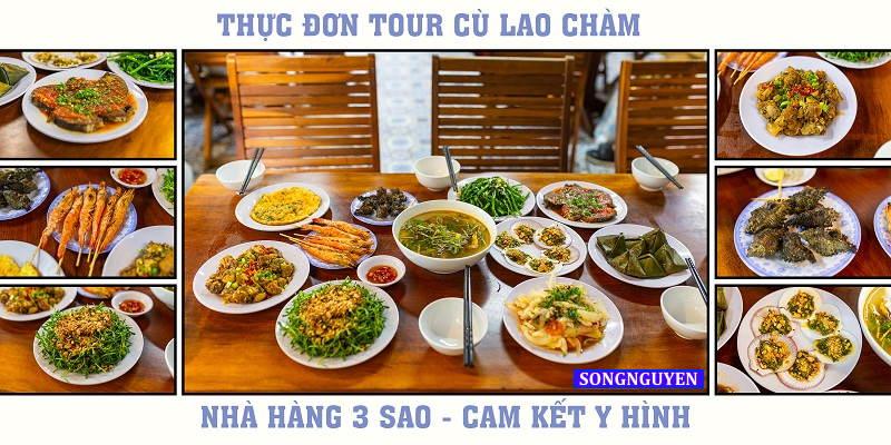 Thực đơn hải sản tươi ngon Tour Cù Lao Chàm