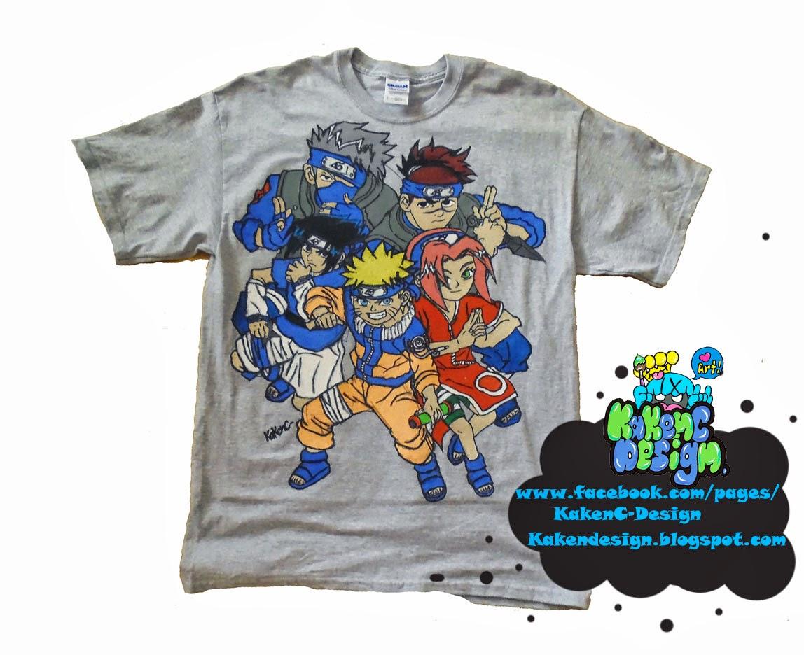 Naruto Custom Hand Painted T Shirt