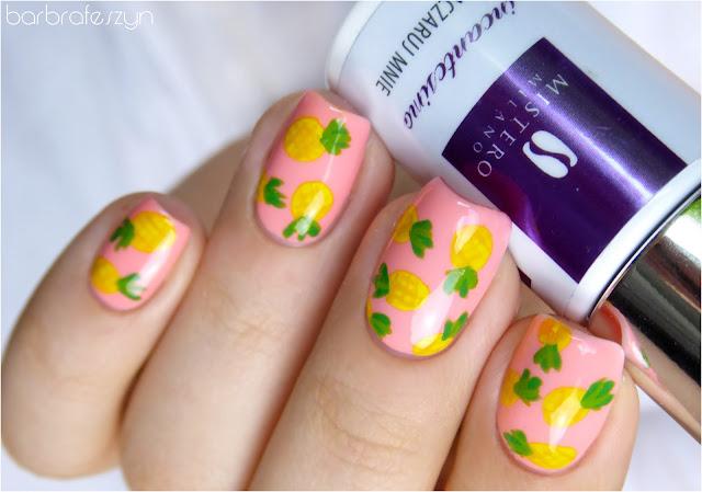 paznokcie w ananasy