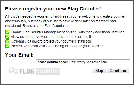 Memasang Flag Counter Di Blog