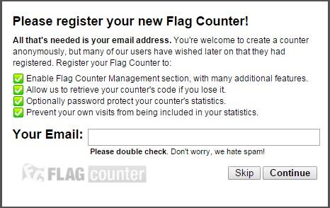 Memasang Flag Counter Di Blog