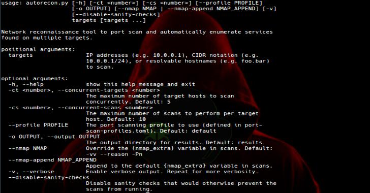 AutoRecon : Multi Threaded Network Reconnaissance Tool