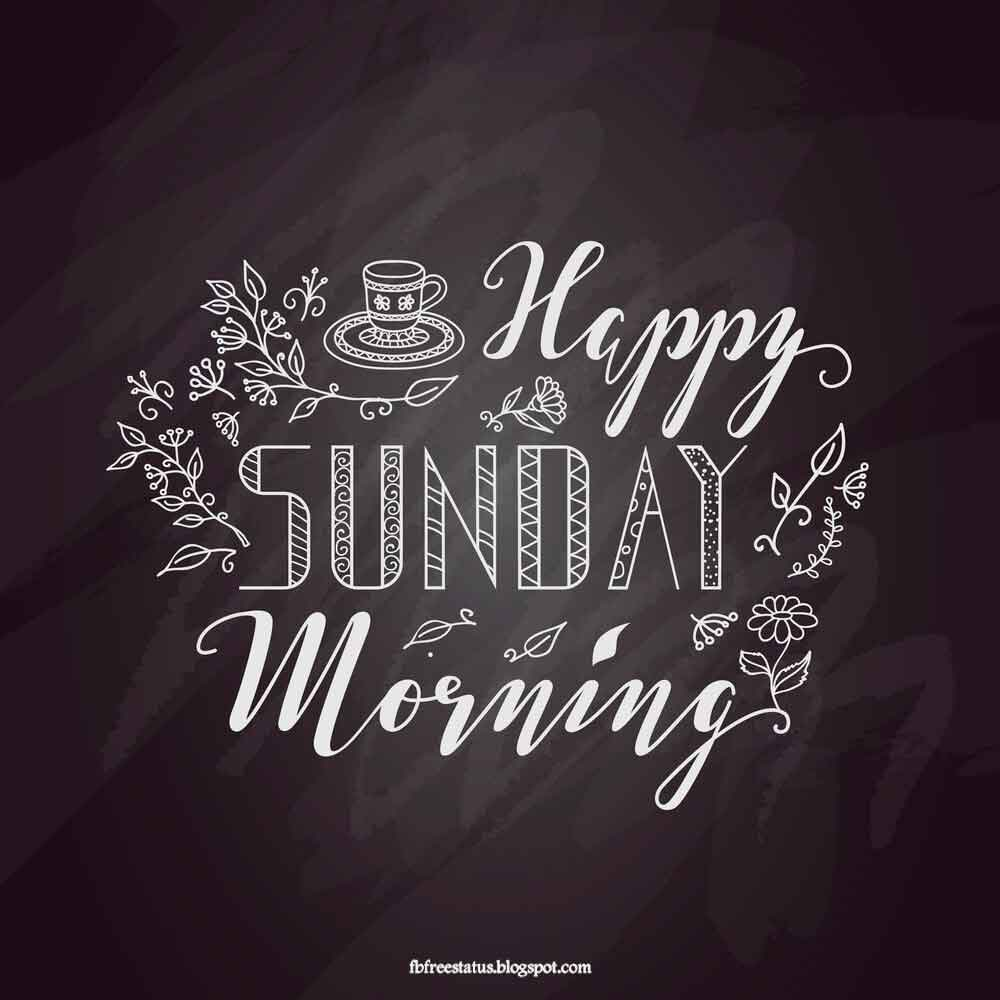 Happy sunday morning.