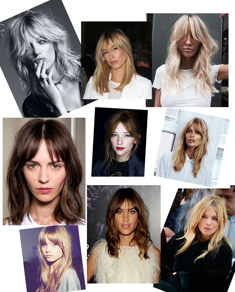 grown out fringe bangs haircut hairstyle trend spring 2018