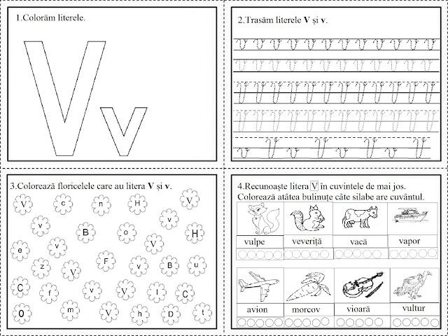Educatia Conteaza Literele V X Z