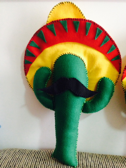 cactus feltro festa mexicana